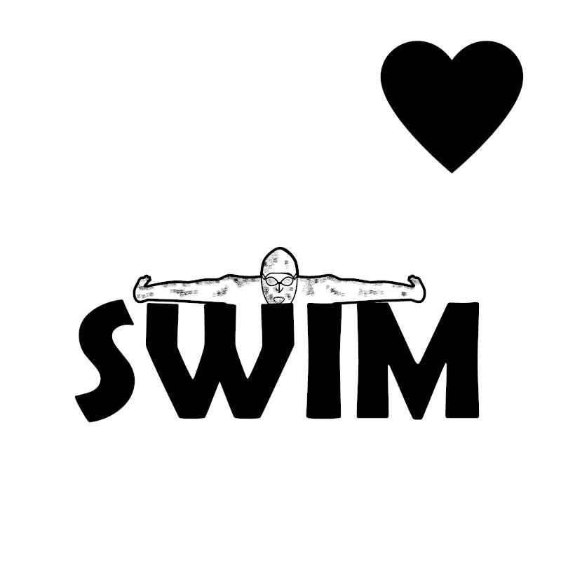 Cooles Schwimmer tshirt